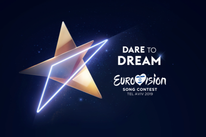 Eurovision 2019 logo Source: ©  <a href ='https://eurovision.tv/story/dare-to-dream-theme-artwork-2019' target='_blank' > eurovision.tv</a>